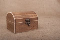 Rustic Wood Box Stock Image