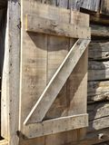 Rustic wood building letter Z. Old rustic wood building with letter Royalty Free Stock Photos