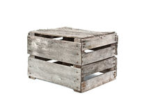 Rustic wood crate Royalty Free Stock Photo