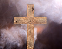 Rustic Wood Cross Stock Photos