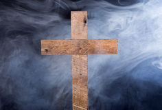 Rustic Wood Cross Royalty Free Stock Images