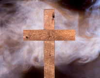 Rustic Wood Cross Royalty Free Stock Photo
