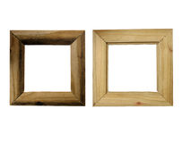 Rustic Wood Frame, Front and Back Stock Photo
