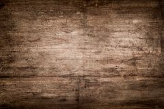 Rustic wood plank as background. Dark Brown Wood Texture with Scratches royalty free stock photos