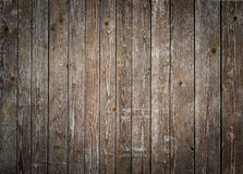 Rustic wood planks background with nice vignetting Royalty Free Stock Images