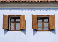 Rustic wood windows royalty free stock photo