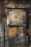 Rustic wooden barn door Royalty Free Stock Photo