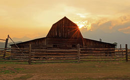 Rustic wooden barn Royalty Free Stock Photography