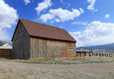 Rustic wooden barn Stock Images