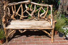 Rustic wooden bench Royalty Free Stock Photography