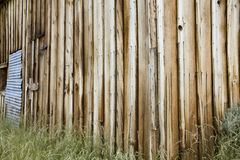 Rustic wooden boards on building stock image