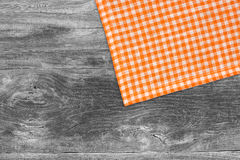 Rustic wooden boards with a orange checkered Royalty Free Stock Photo