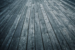 Rustic Wooden Boardwalk in Perspective Royalty Free Stock Images