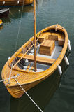 Rustic wooden boat Sweden. Rustic wooden boat built for both rowing, sailing and motor, Sweden Stock Photos