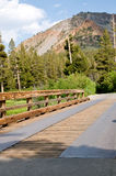Rustic wooden bridge Royalty Free Stock Photo