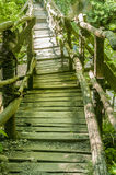 Rustic wooden bridge Stock Photography