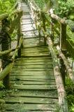 Rustic wooden bridge Stock Photography