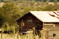 Rustic wooden building stock image