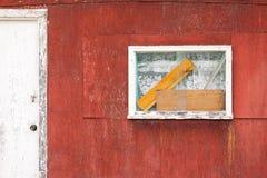 Rustic wooden cabin exterior window door abstract Stock Photography
