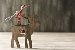 Rustic wooden christmas ornament Stock Images