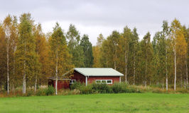 Rustic wooden countryside house from Sweden Stock Image