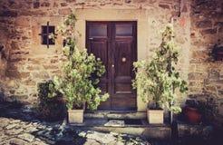 Rustic wooden door Royalty Free Stock Images