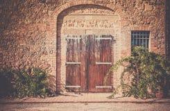 Rustic wooden door Stock Photography