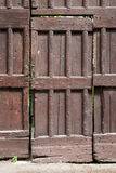 Rustic wooden door, full view Stock Photo