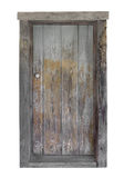Rustic wooden door isolated. Royalty Free Stock Photography