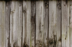 Rustic wooden fence background. Closeup of a weathered wooden fence with knot holes Stock Photos