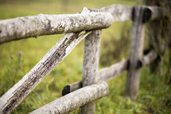 Rustic wooden fence Royalty Free Stock Image