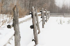Rustic wooden fence Royalty Free Stock Photo