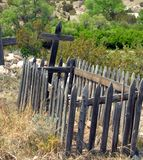 Decorative but Old Fence at Cemetery Royalty Free Stock Photo