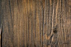 Rustic wooden fence texture background of natural brown colors Stock Photos