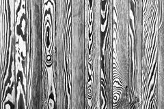 Rustic wooden fence texture background,. Black and white zebra-like coloring Stock Photography