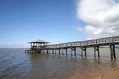 Free Rustic Wooden Fishing And Swimming Pier Stock Photography - 38586352