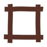 Rustic wooden frame Stock Photos