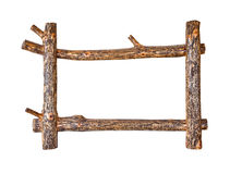 Rustic wooden frame Royalty Free Stock Images