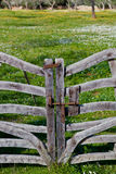 Rustic wooden gate Royalty Free Stock Photos