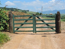 Rustic wooden gate Stock Photography