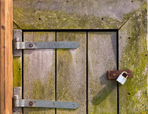 Rustic Wooden Gate Stock Image
