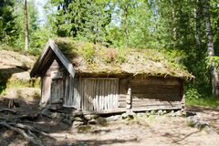 Rustic wooden house in the open-air museum Seurasaari, Helsinki Stock Images