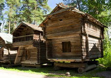 Rustic wooden house in the open-air museum Seurasaari, Helsinki Royalty Free Stock Photo