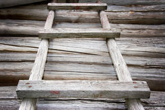 Rustic wooden ladder Stock Photography
