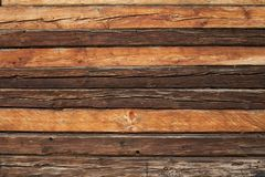 Rustic wooden log wall. Variable rustic wooden log wall background texture royalty free stock photos