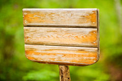rustic wooden notice board in public park Royalty Free Stock Image