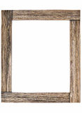 Rustic wooden photo frame Royalty Free Stock Images