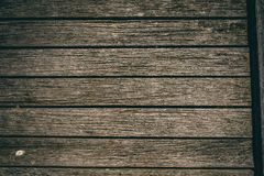 Rustic wooden planks on old pier royalty free stock image