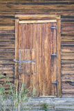 Rustic wooden shed door weathered Stock Image