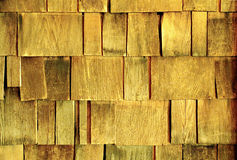Rustic Wooden Shingles. Detail of weather-beaten wooden shingles on a ninety-year-old cabin in the Palomar Mountains of Southern California Royalty Free Stock Images